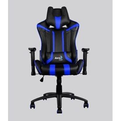 Picture of AEROCOOL AC120-Black-Blue / Race-Cushion-V1 GAMING CHAIR