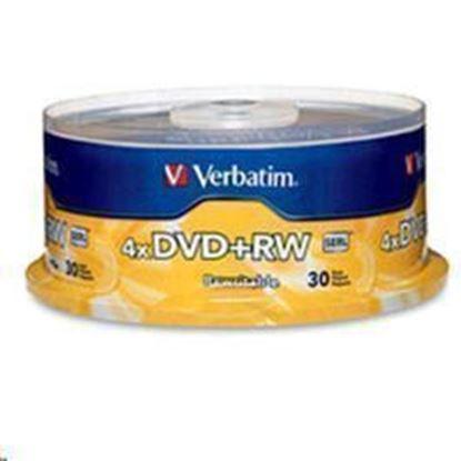 Picture of Verbatim 94834 DVD+RW 30pk Spindle 4.7GB 4x